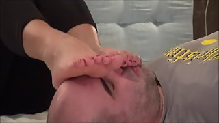 FootDominas - ALICE - FootWorship And Foot Massage On Face 1