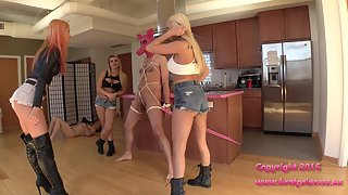 [BratPrincess] Cali Carter - Kenzie Tries Out for the Ballbusting Team
