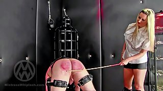 Mistress Nikki Whiplash Judicial CP 60 With The Cane, 60 With The Paddle