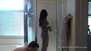 [Black Girls White Slaves] Waiting to Dry Her