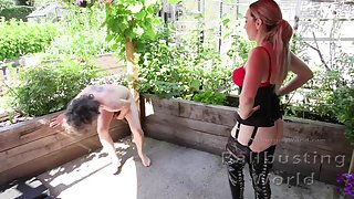 Booted Outdoor Ballbusting - Jessica