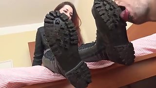 Dirty Gothic Boots Licking