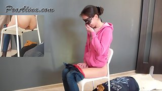 Femdom Scat - Alina pooping in mouth toilet slave after vodka and vegetable stew with meat