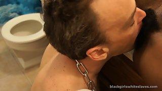 [Black Girls White Slaves] Good Job Toilet Boy