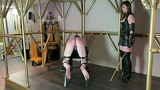 Mistress Vivienne LAmour Slave Plod Takes A Hard Caning
