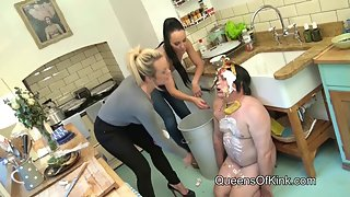 Mistress Tess and Fetish Liza - Humiliated Human Garbage