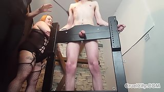 Cruelcity - Mistress Scarlettand Miss April Torture Their Slaves Cock (1)