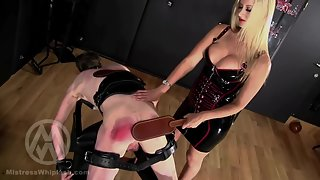 No Mercy No Safeword Caning For Two Naughty Slaves part I