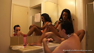 [Black Girls White Slaves] Shave Me White Boy