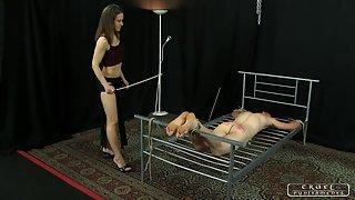 CruelPunishments - Ann - Lady Ann's Slave Testing 2 - Bastinado