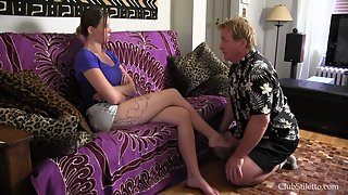 ClubStiletto - Princess Mashes Uncle's Face