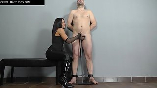 Aroused and tied
