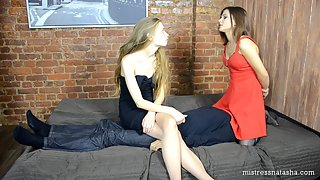 Erika Korti and Mistress Helga - Double Facesitting
