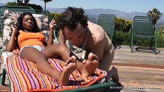 [Black Girls White Slaves] Rub My Feet Now