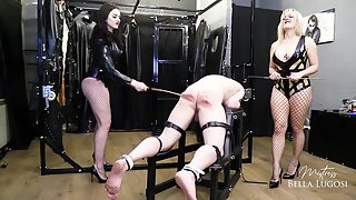 Mistress Tess - Mistress Bella Lugosi and Mistress Tess - We'll Beat The Boy Out of You
