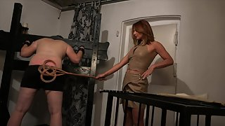 Spanked Hard In The Cellar with Lady Olga