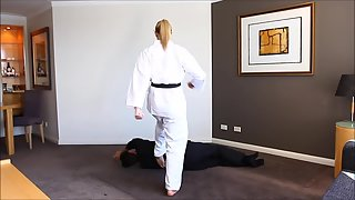 KarateTrampleFemdomGirls - Tamar - Black Belt Tamar Defeats Peter