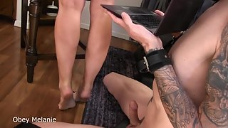 Obey Melanie - Footjob online training