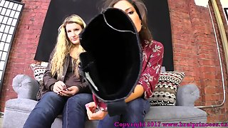 BRATPRINCESS - YOU NEED TO BE LOCKED IN CHASTITY BEFORE YOU WORSHIP OUR FEET