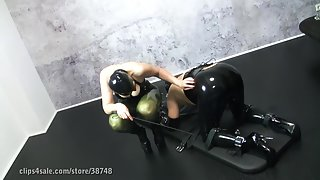My-Slave Femdom Video - Fixed, pumped and mildked